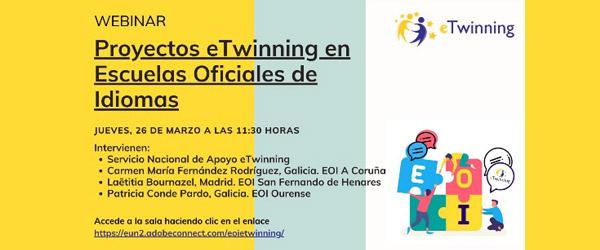 WEBINAR: Proyectos eTwinning en Escuelas Oficiales de Idiomas