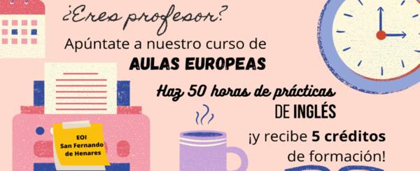 Curso de Aulas Europeas en inglés para docentes